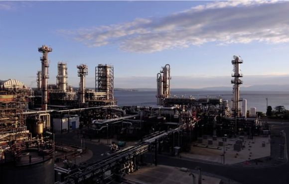 Toping unit in Rijeka refinery
